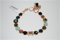 "Mariana 8"" Statement Bracelet from the Cannoli Collection with Swarovski Crystal and Rose Gold Plated"