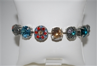 "Mariana ""8"" Statement Bracelet from the Tinsel Collection with Swarovski Crystals and .925 Sterling Silver Plating"