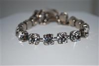 "Mariana ""Bette"" 8"" On A Clear Day Collections, with Clear Swarovski Crystal Tennis Bracelet .925 Silver Plated"