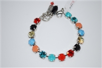 "Mariana ""Bette"" 8"" St. Barts Collections, with Swarovski Crystal Tennis Bracelet .925 Silver Plated"