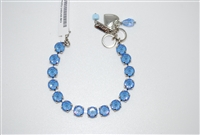 "Mariana ""Bette"" 8"" Crystal Tennis Bracelet with Ocean Sun Kissed Swarovski Crystals and set in Rhodium Plating"