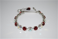 "Mariana ""Bette"" 8"" Tennis Bracelet with Swarovski Crystals and Rhodium Plated"
