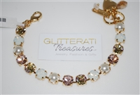 "Mariana ""Bette"" 8"" Tequila Sunrise Collection Swarovski Crystal Tennis Bracelet Yellow Gold Plated"