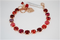 "Mariana ""Bette"" 8"" Firefly Tennis Bracelet with Swarovski Crystals and Rose Gold Plated"