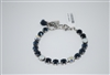 "Mariana 8"" Tennis Bracelet Bracelet from the Mood Indigo Collection with Swarovski Crystals and .925 Silver Plated"