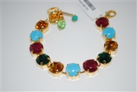 "Mariana 8"" Happy Days Bracelet with Swarovski Crystals and Yellow Gold Plating"