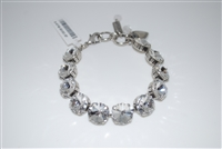 "Mariana ""Promenade"" 8"" On A Clear Day Collections, with Large Clear Swarovski Crystals and .925 Silver Plated"