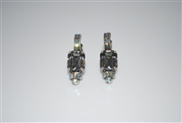Mariana Black Diamond earring with Swarovski Crystals and .925 Silver Plated