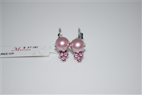 "Mariana  Antigua ""Jubilee"" earring with Swarovski Pearls and Crystals and .925 Silver Plated"