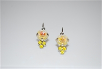 Mariana Earrings with Sun Kissed Sunshine Swarovski Crystals and Rhodium Plated