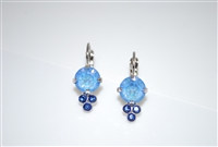 Mariana Earrings with Sun Kissed Ocean Swarovski Crystals and Rhodium Plated