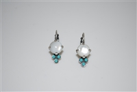 "Mariana  Polar Paradise ""Jubilee"" earring with Swarovski Crystals and .925 Silver Plated"