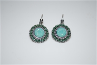Mariana Statement Earrings with Green Swarovski Crystals from the Fern Collection and .925 Silver Plated