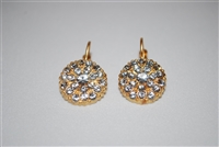 Mariana Guardian Earrings from the On A Clear Day Collection with clear Swarovski Crystals and Yellow Gold Plated.