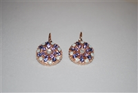 Mariana Guardian Earrings from the Purple Rain Collection with Swarovski Crystals and Rose Gold Plated