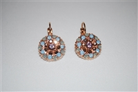 Mariana Guardian Earrings from the Rhopsode Collection with Swarovski Crystals and Rose Gold Plated.