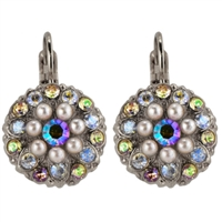Mariana Guardian Earrings from the Aurora Collection with Swarovski Crystals and .925 Silver Plated