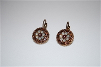 Mariana Guardian Earrings from the Aphrodite Collection with Swarovski Crystals and Rose Gold Plated.