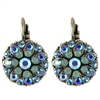 Mariana Guardian Earrings with Aquamarine, Light Sapphire, and Pacific Opal Swarovski Crystals and .925 Silver Plated.