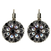 Mariana Guardian Earrings with Clear, Black, and Clear Aurora Borealis Swarovski Crystals and .925 Silver Plated