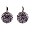 Mariana Guardian Earrings with Tanzanite and Light Amethyst Swarovski Crystals and .925 Silver Plated.