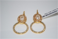 Champagne and Caviar Door Knocker Earrings