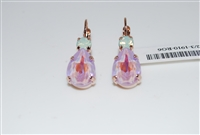 Teardrop drop Earrings with Swarovski Crystals from the Lavender Collection and Rose Gold Plated