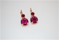 "Mariana ""Audrey"" Round Drop Earrings from the Firefly Collection Rose Gold Plated"