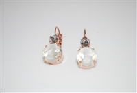"Mariana ""Audrey"" Round Drop Earrings from the Seashell Collection set in Rose Gold"