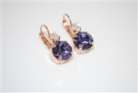 "Mariana ""Audrey"" Round Drop Earrings from the Purple Rain Collection Rose Gold Plated"