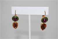 Mariana Reagatta Teardrop style earrings from the Happy Days Collection made of Swarovski Crystals and Gold Plated