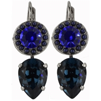"Rergatta"" Teardrop Style Earrings from the Electra Collection in .925 Silver Plating"