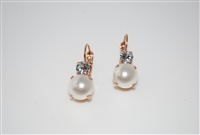 Mariana Round Drop Earrings from the Seashell Collection Rose Plated