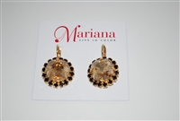 "Mariana ""Jacqueline Earrings"" from the Adeline Collection with Swarovski Crystal and .925 Gold Plated"