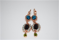 Mariana Dangle Earrings from the Canolli Collection with Swarovski Crystals set in Rose Gold Plating