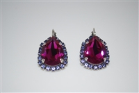 "Mariana ""Tiara"" Earrings Cuba Collection Swarovski Crystals .925 Silver Plated"