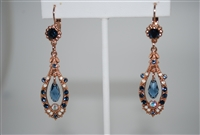Mariana Statement Earrings from the Mood Indigo Collection with Swarovski Crystals and Rose Gold Plated