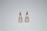 "Mariana ""Chloe"" Round Drop Earrings from the Jamaica Collection with Rose Gold Plated"