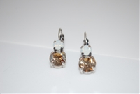 "Mariana ""Chloe"" Round Drop Earrings with White Opal and Champagne Swarovski Crystals"