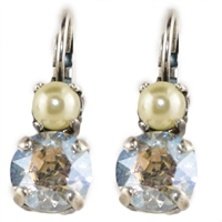"Mariana ""Chloe"" Round Drop Earrings from the Champagne and Caviar Collection with Swarovski Crystals .925 Silver Plated"