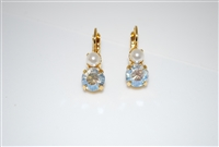 "Mariana ""Chloe"" Round Drop Earrings from the Champagne and Caviar Collection with Swarovski Crystals Yellow Gold Plated"