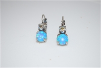 "Mariana ""Chloe"" Round Drop Earrings from the Italian Ice Collection with Swarovski Crystals Silver Plated"