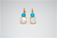 "Mariana ""Chloe"" Round Drop Earrings from the Polar Paradise Collection with Clear Swarovski Crystals"