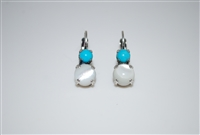 "Mariana ""Chloe"" Round Drop Earrings Swarovski Crystals from the Polar Paradise Collection Silver Plated"