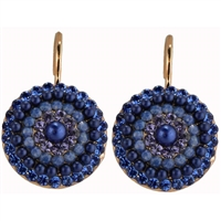 "Mariana ""Starburst"" Circular Style Earrings from the Electra Collection in Rose Gold Plating"