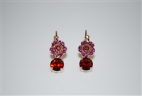 Mariana Dainty Flower Earrings with Swarovski Crystals from the Firefly Collection in Rose Gold Plating