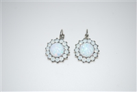 Mariana Goddess Earrings from Snowflake Collection in Rhodium Plating