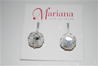 "Mariana ""Bijou"" Post Earrings with Clear Swarovski Crystals from the On a Clear Day Collection .925 Silver Plated"