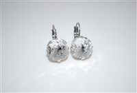 "Mariana ""Bijou"" Drop Earrings with Clear Swarovski Crystals from the On a Clear Day Collection .925 Silver Plated"