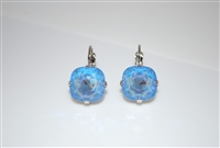 "Mariana ""Bijou"" Drop Earrings with Ocean ""Sun Kissed""  Swarovski Crystals with Rhodium Plated"